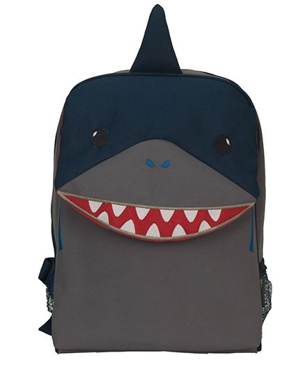My Milestones Toddler Backpack Shark Grey - 13 Inches