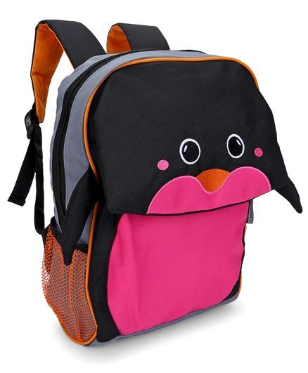 My Milestones Toddler Backpack Penguin Navy - 13 Inches