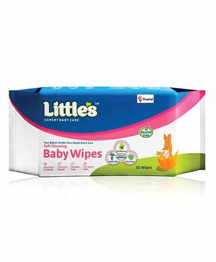 Little's Soft Cleansing Baby Wipes - 30 Pieces