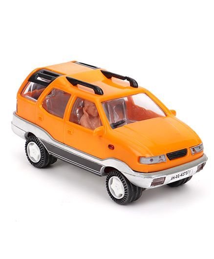 cbfcfaf8ce80 Speedage Tata Safari Pull Back Action Car Model Orange for (3-8 ...