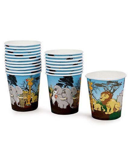 7329690cd8 Karmallys Paper Cups Animal Print Pack of 20 Multi Color Online in ...