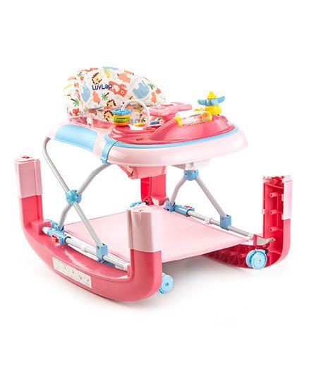 28430433514 LuvLap Grand Baby Walker With Rocker Pink Online in India
