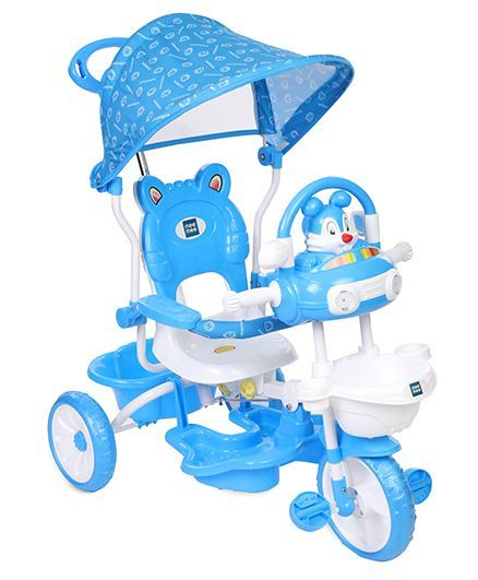 Mee Mee Tricycle With Printed Canopy - Blue