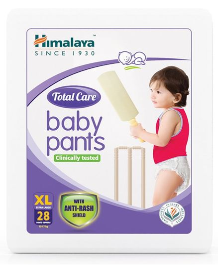 Himalaya Herbal Total Care Baby Pant Style Diapers Extra Large - 28 Pieces