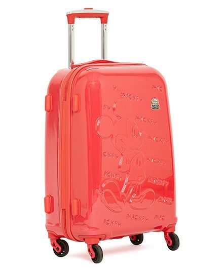 2ba7fb80916 Disney Mickey Mouse Emboss Kids Luggage Trolley Bag Red 20 inches ...
