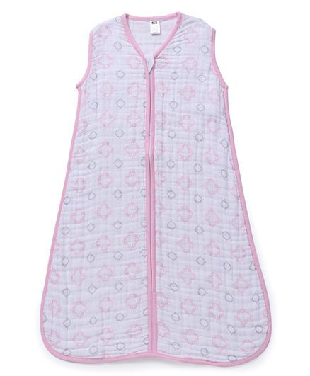 promo code fdd23 dda04 Hudson Baby Muslin Sleeping Bag Pink Online in India, Buy at Best Price  from Firstcry.com - 1411469