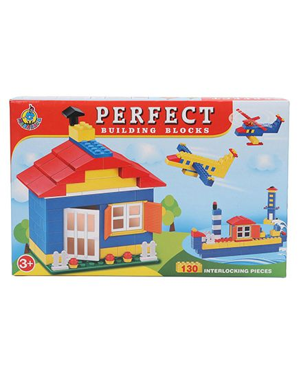 Ratnas Perfect Building Blocks Multicolor - 130 Blocks