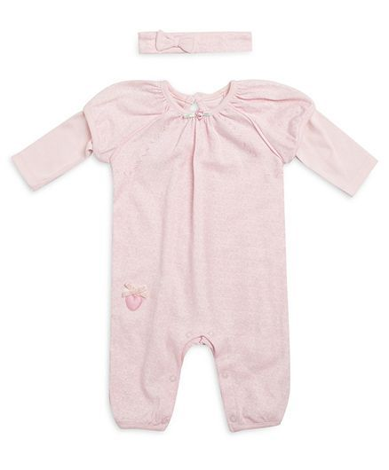5c116dd08 Buy FS Mini Klub Long Sleeves Romper With Headband Light Pink for ...