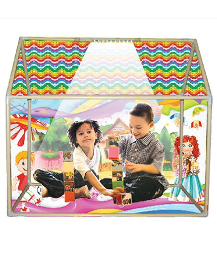ed6768ddb NHR Kids LED Light Play Tent House With Wheels Multicolor Online ...