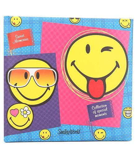 Archies Scrap Book Smiley Print- Blue