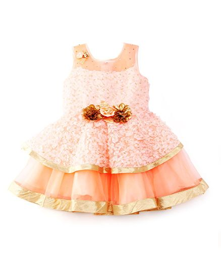6d9d6cbe9e Buy MPrincess Beautiful Party Dress Peach for Girls (24-24 Months) Online  in India, Shop at FirstCry.com - 1455680