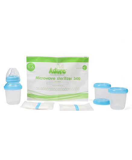 Adore Milk And Food Storage Cup - Blue