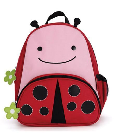 Skip Hop Backpack Lady Bug Design Pink - 7.5 Inches