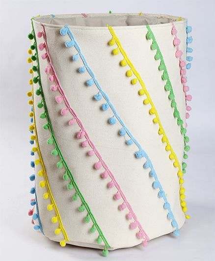 My Gift Booth Pom Pom Laundry Bag Multi Color Online in India, Buy at Best  Price from Firstcry com - 1470561
