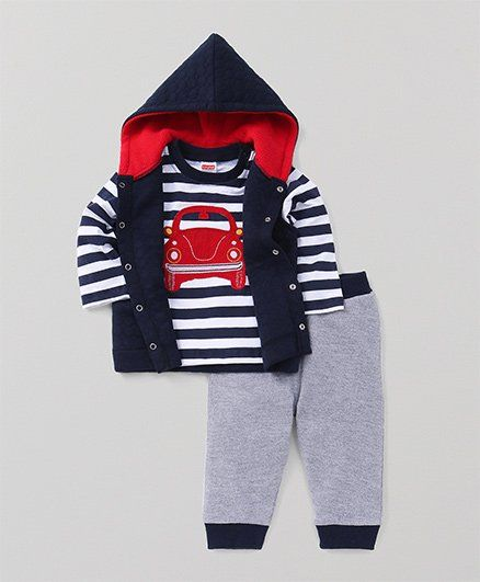 6dcbba8718b Buy Babyhug 3 Piece Winter Wear Set Navy for Boys (6-9 Months ...