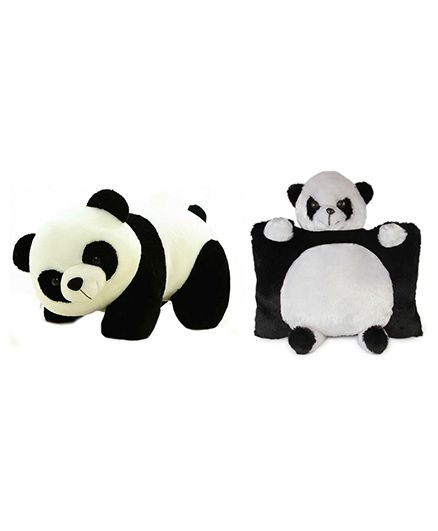 Deals India Panda Pillow And Soft Toy - Black White
