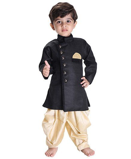2672581e9f6b Buy Jbn Creation Indo Western Biker Style Jacket With Cowl Dhoti ...