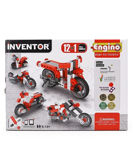 Engino Inventor 12 Models Motorbikes - Red