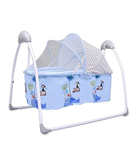 R for Rabbit Lullabies The Auto Swing Baby Cradle - Blue