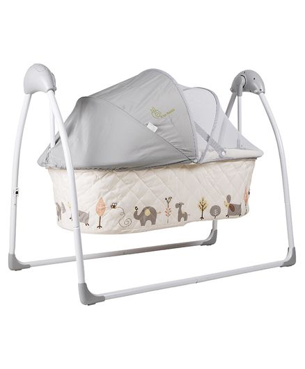 R for Rabbit Lullabies The Auto Swing Baby Cradle - Cream