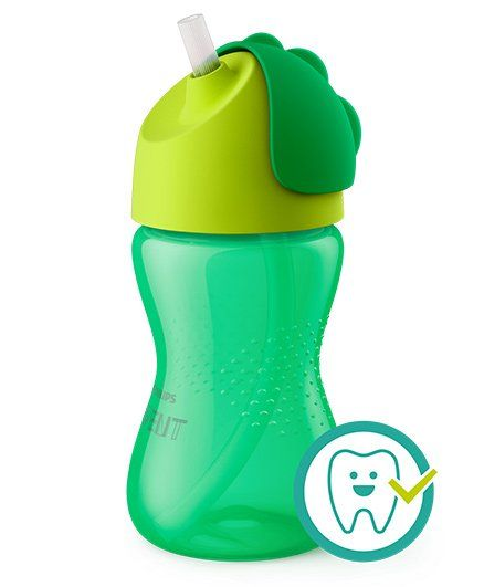 7a6d4f5100346 Avent Bendy Straw Cup Green 300 ml Online in India