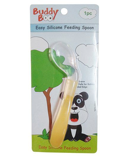 Buddyboo Silicone Feeding Spoon - Yellow