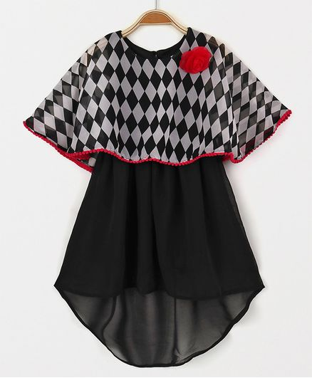 c70ce69da2f81 Buy Soul Fairy High Low Cape Style Dress Black for Girls (3-6 Months)  Online in India, Shop at FirstCry.com - 1626197