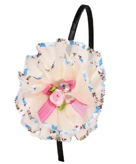 1b4854343e5c1 Miss Diva Beautiful Pearl & Bow Studded Flower Hair Band Peach for Girls  (2-8 Years) Online in India, Buy at FirstCry.com - 1626916