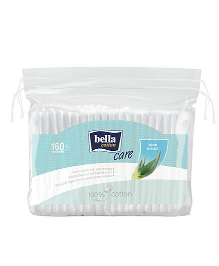 Bella Cotton Buds With Aloe Vera Extract - 160 Pieces