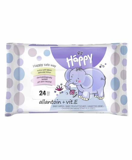 Bella Baby Happy Wet Wipes - 24 Pieces