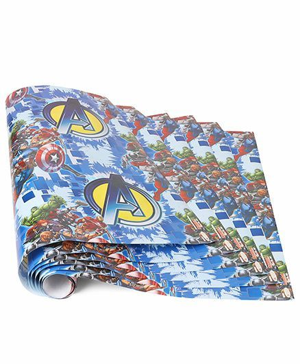 Marvel Gift Wrapper Avenger Print Pack Of 5 Blue Online in India, Buy at  Best Price from Firstcry com - 1649285