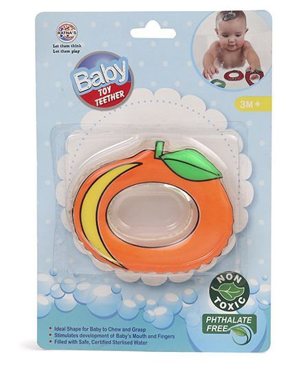 Ratnas Fruit Shape Water Filled Teether - Peach