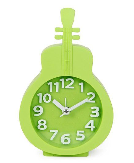 Guitar Shape Analog Alarm Clock Green Online in India, Buy at Best Price  from Firstcry com - 1657663