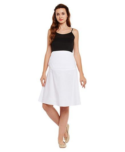 e8ea000577 Oxolloxo Maternity Skirt White Online in India
