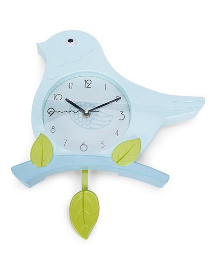Bird Shape Clock - Blue