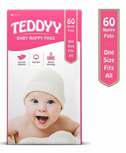 Teddyy Nappy Pads - 60 Pieces