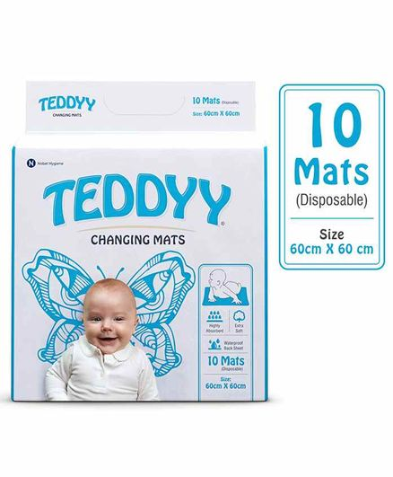 9223c3f4fb0 Teddyy Disposable Changing Mats 10 Pieces Online in India