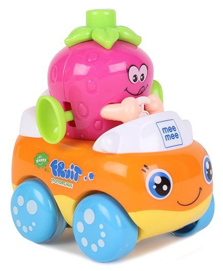 Mee Mee Strawberry Shape Friction Toy Car - Pink Orange