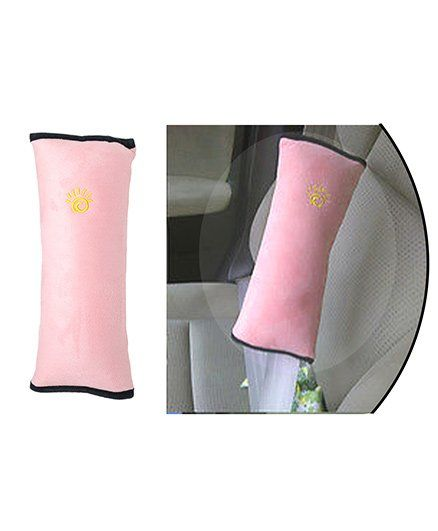 Safe O Kid Car Seat Belt Pillow For Kids Pink Pack Of 1