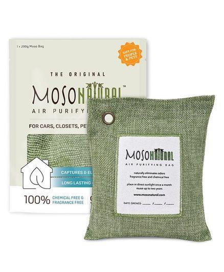 Moso Natural Air Purifying Bag Green Color