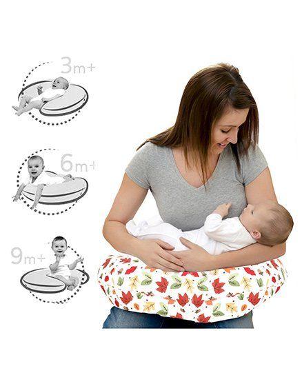 b1d6e70d76b Lulamom Allergen Protected Soft Feeding Pillow Floral Print - White   Red
