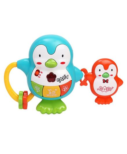 81b9b4efd5 Emob Penguin Shape Battery Operated Musical Toy Blue Green Online India,  Buy Musical Toys for (3-6 Months) at FirstCry.com - 1738974