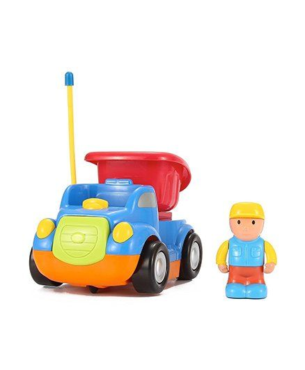 Webby Cartoon Remote Control Dump Truck - Multicolor