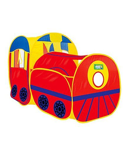 Webby Playhouse Train Engine Tent - Red Blue Yellow