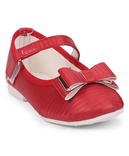 e55d342726e Buy Cute Walk by Babyhug Belly Shoes Bow Motif Red for Girls (6-7 ...