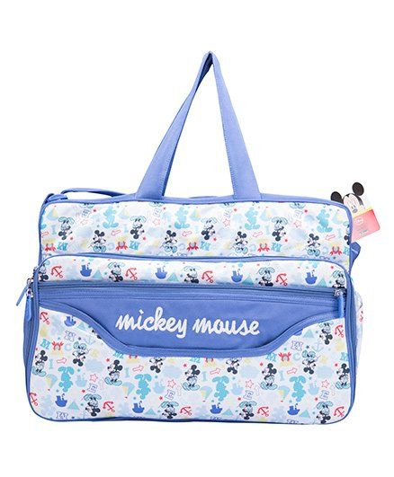 Disney Mickey Mouse Design Diaper Bag With Changing Mat-1