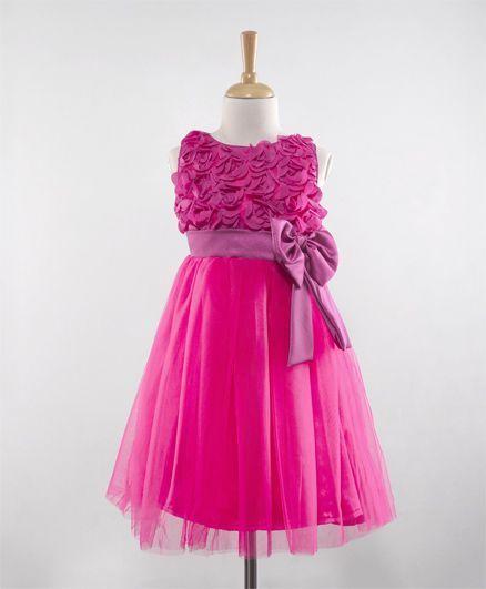 acdd238b8bdb Buy The KidShop Rosette Party Dress Fuschia Pink for Girls (2-3 ...