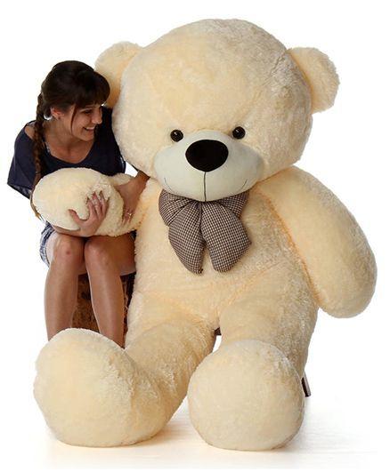 ddb42f3ee65 Skylofts Giant Teddy Bear Soft Toy 5.9 Feet Cream Height 180 cm ...