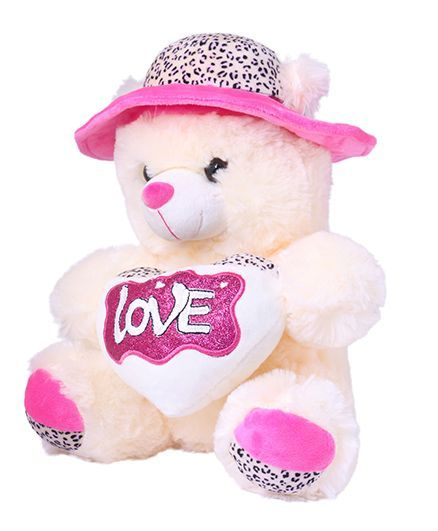 b5639e1202d Skylofts Teddy Bear With Hat Soft Toy Pink 40 cm Online India