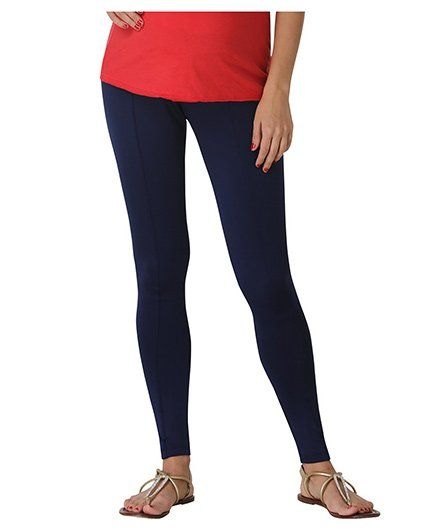 9878e97e5570a Morph Ankle Length Maternity Leggings Blue Online in India, Buy at ...